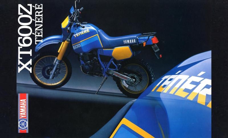 1987, Yamaha, Tenerè, enduro, Depliant